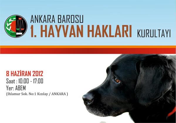 Ankara Barosu 1. Hayvan Hakları Kurultayı